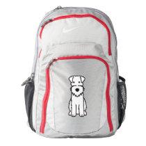Wire Fox Terrier Dog Cartoon Nike Backpack