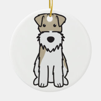 Wire Fox Terrier Dog Cartoon Christmas Tree Ornament