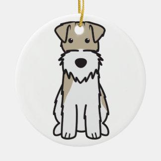 Wire Fox Terrier Dog Cartoon Christmas Tree Ornament