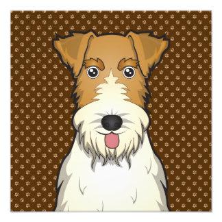 Wire Fox Terrier Dog Cartoon Paws Photo Print