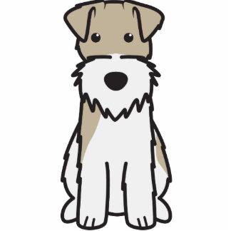 Wire Fox Terrier Dog Cartoon Photo Sculptures