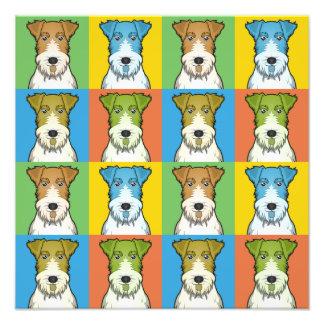 Wire Fox Terrier Dog Cartoon Pop-Art Art Photo