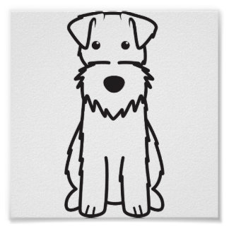Wire Fox Terrier Dog Cartoon Poster