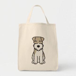 Wire Fox Terrier Dog Cartoon Tote Bag