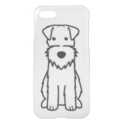 Uncommon iPhone 7 Clearly™ Deflector Case with Wire Fox Terrier Phone Cases design