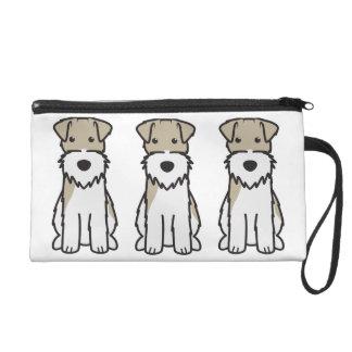 Wire Fox Terrier Dog Cartoon Wristlet