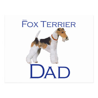 Wire Fox Terrier Father's Day Postcard