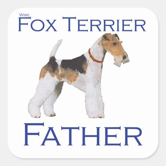 Wire Fox Terrier Father's Day Square Sticker