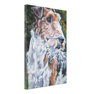 wire fox terrier fine art dog painting canvas print