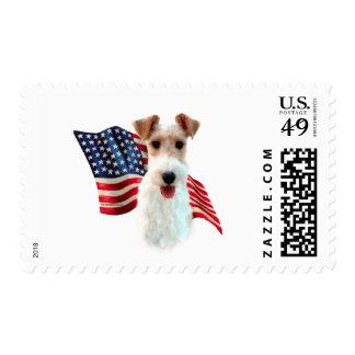 Wire Fox Terrier Flag Stamp