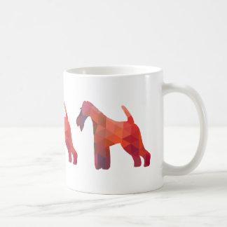 Wire Fox Terrier Geometric Pattern Silhouette Coffee Mug