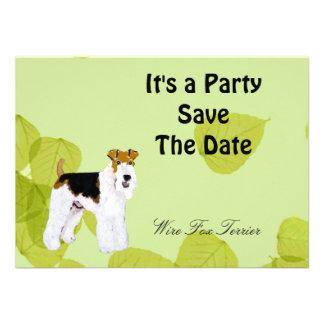Wire Fox Terrier - Green Leaves Design Custom Announcement