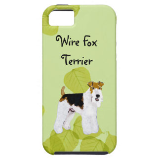 Wire Fox Terrier - Green Leaves Design iPhone SE/5/5s Case