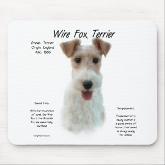 Wire Fox Terrier History Design Mouse Pads