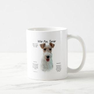 Wire Fox Terrier History Design Coffee Mugs