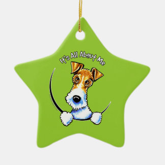Wire Fox Terrier IAAM Ceramic Ornament