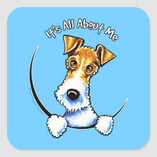 Wire Fox Terrier IAAM Square Sticker