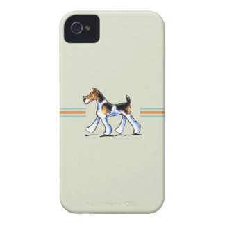 Wire Fox Terrier In Motion iPhone 4 Cases