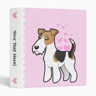 Wire Fox Terrier Love 3 Ring Binder