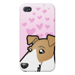 Case Savvy iPhone 4 Matte Finish Case with Wire Fox Terrier Phone Cases design