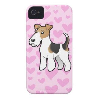 Wire Fox Terrier Love iPhone 4 Case