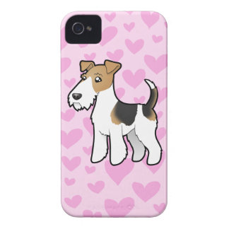 Wire Fox Terrier Love iPhone 4 Cover