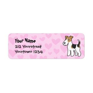 Wire Fox Terrier Love Label