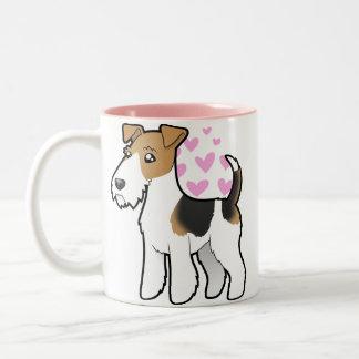 Wire Fox Terrier Love Two-Tone Coffee Mug