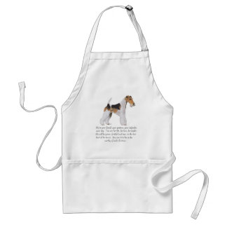 Wire Fox Terrier Memory Dedication MALE Aprons
