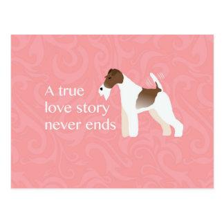 Wire Fox Terrier Minimalist Silhouette Design Postcard