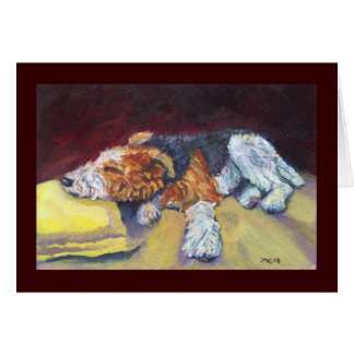Wire Fox Terrier Nap Greeting Card