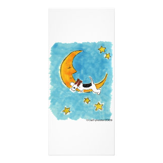 Wire fox terrier on the moon custom rack cards