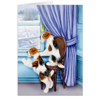 Wire Fox Terrier Parlor Pals Card