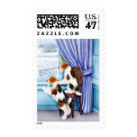Wire Fox Terrier Parlor Pals Postage Stamp