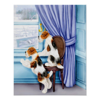 Wire Fox Terrier Parlor Pals Poster