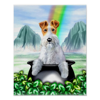 Wire Fox Terrier Pot O Gold Poster