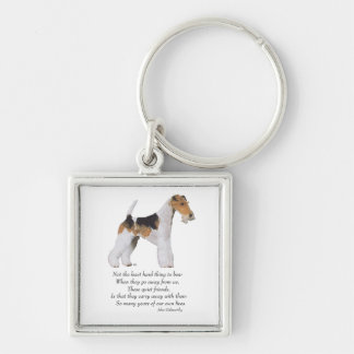 Wire Fox Terrier Rainbow Bridge Keychain