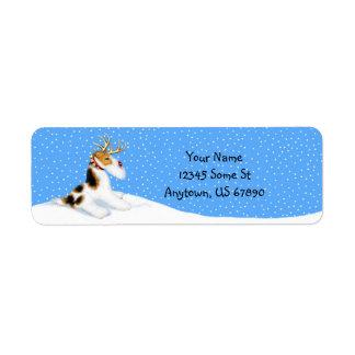 Wire Fox Terrier Reindeer Labels