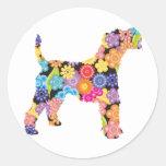 Wire Fox Terrier Round Stickers