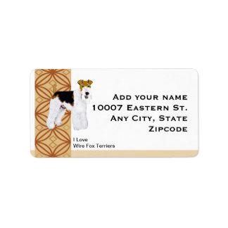 Wire Fox Terrier Rust Design Address Label