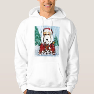 Wire Fox Terrier Santa Hoodie