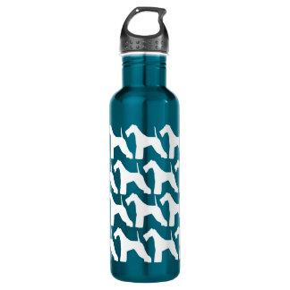Wire Fox Terrier Shadow 24oz Water Bottle