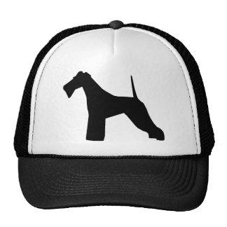 Wire Fox Terrier silhouette Trucker Hat