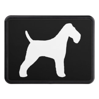 Wire Fox Terrier Silhouette Hitch Cover