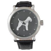Wire Fox Terrier Silhouette Wristwatch