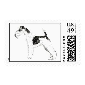 Wire Fox Terrier Stamp