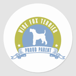 Wire Fox Terrier Round Sticker