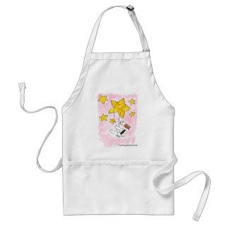 Wire fox terrier swingin' on a star apron