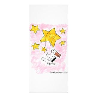 Wire fox terrier swingin on a star rack card template