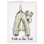 Wire Fox Terrier Tail Greeting Cards